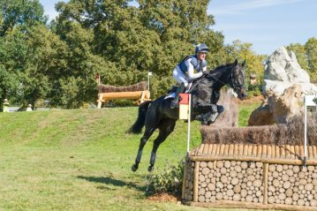 Nicola and Annie Clover in action on the cross-country course